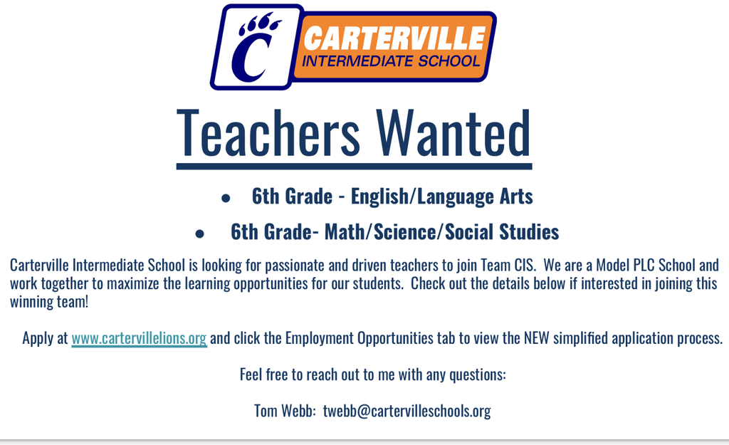 Carterville Intermediate School Teachers Wanted