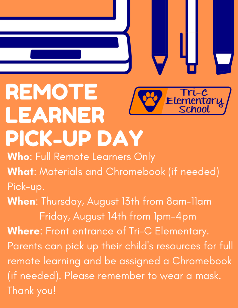 Remote Learner Pick-up Day